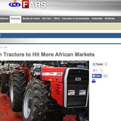 Iranska traktorer för Afrika