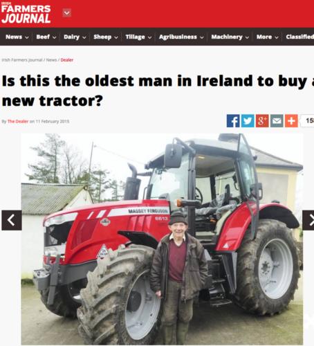 Aldrig för gammal för en schysst traktor...