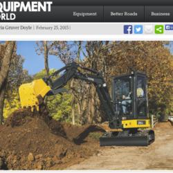 Liten lätt JD-grävare med schysst kapacitet