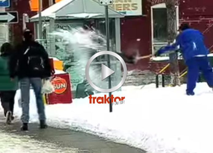 SE UPP hur du kastar snön!!!