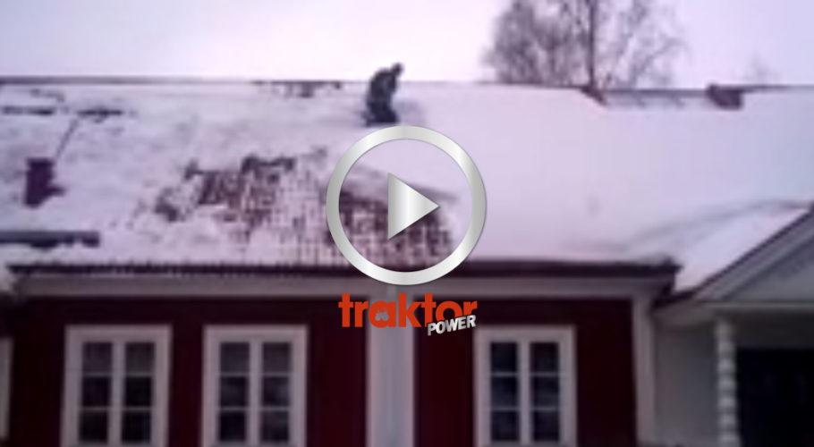 SNÖSKOTTAREN på taket!