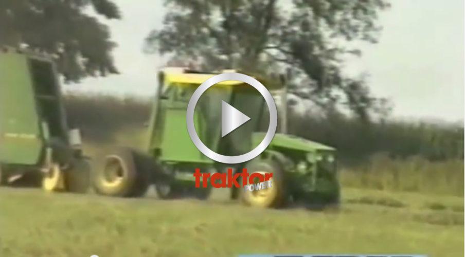 Hembyggd traktor för pressen