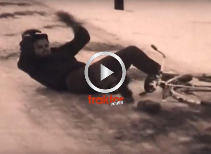 AJ, aj, aj! Cykel på is!!!