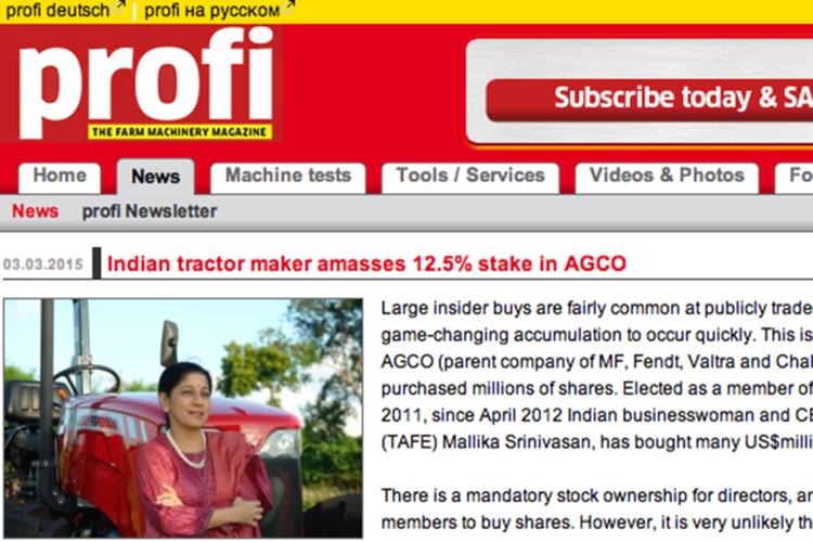 Indiska största enskilda ägare i Agco