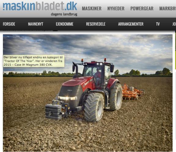 """Ny vinnarklass i """"Tractor of the Year"""""""