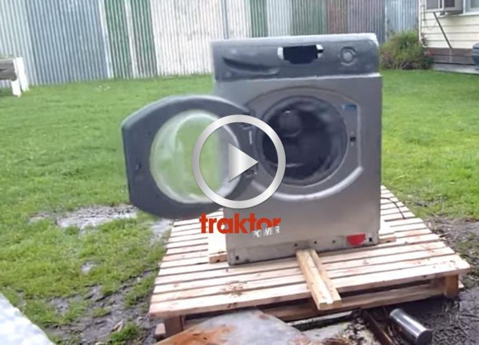 KOLLA, hur tvättmaskinen går!!!