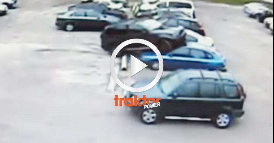 Bilen kör upp på biltaket!?!