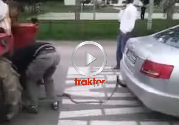 Audi vs traktor!!!