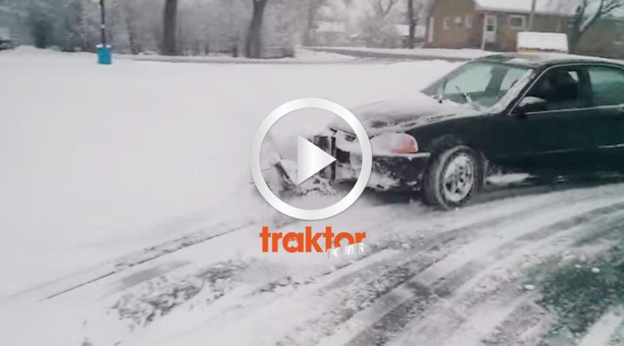 Bilen fixar snön lätt!!!