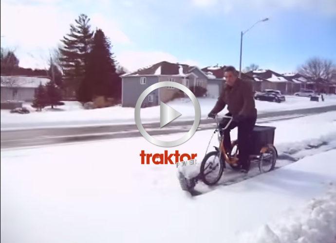 Kolla, cykeln plogar cykelbanorna!!!