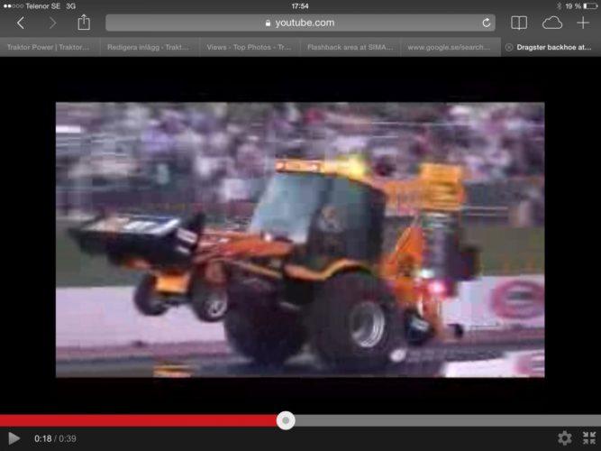 Dragster traktorgrävare!!!