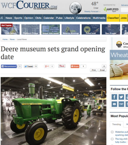 JD firar nya stora traktormuseet