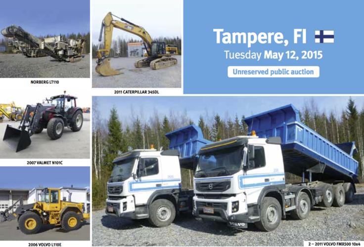 Ritchie Bros-auktion i Finland i maj