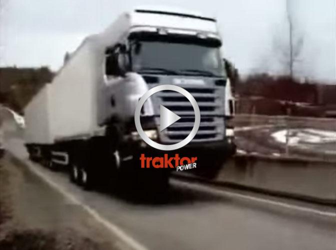 Scania på bakhjulen!
