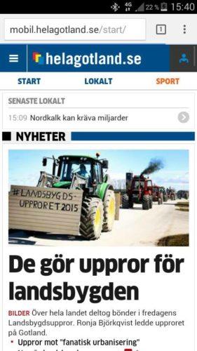 Traktorupproret på Gotland!