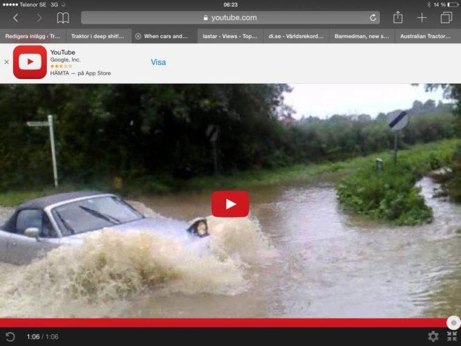 Bilar i vatten!