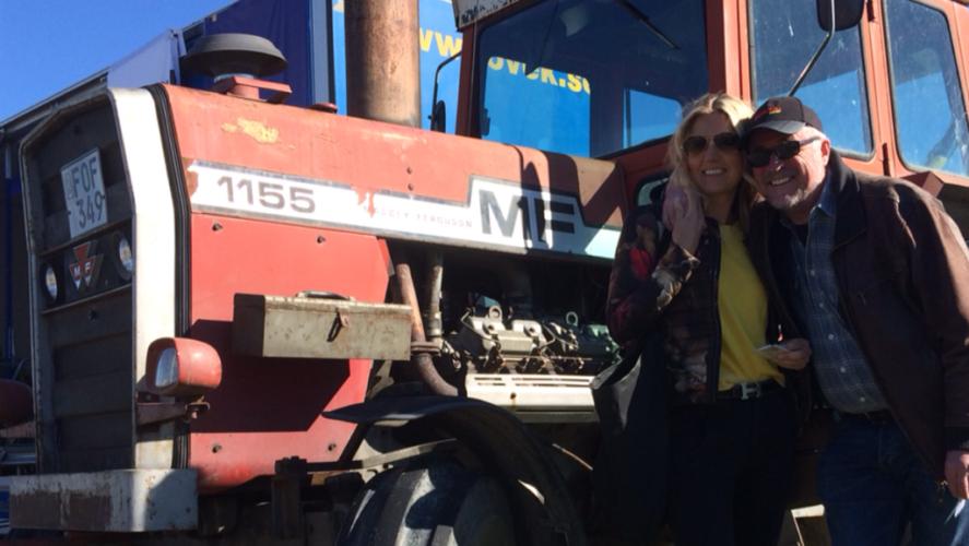 V8-Massey hos Traktor Power på Maskinexpo!