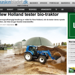 New Holland visar ny biogas-traktor