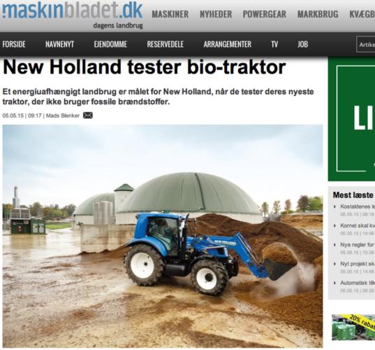 New Holland visar ny biogas-traktor