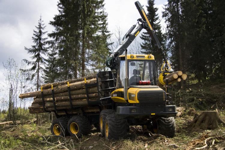 Till hälften ny Ponsseskotare på Skogselmia