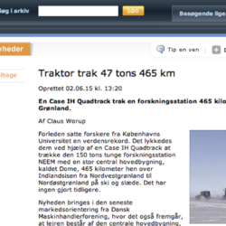 Quadtracen drog 150 ton över Grönlandsisen