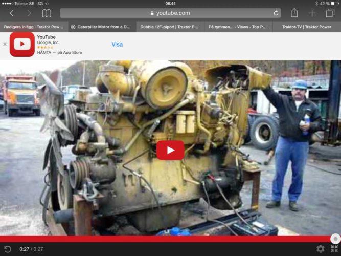 Motor från en Cat D9!