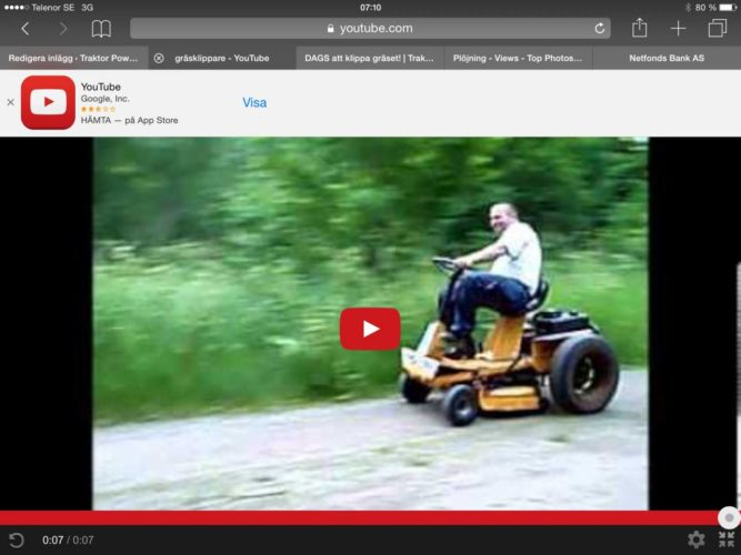 Sveriges snabbaste gräsklippare!