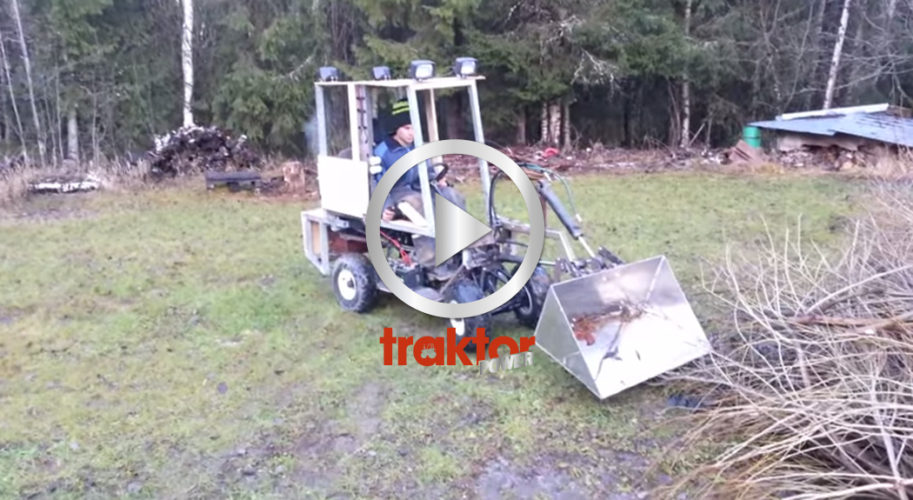 Hembyggd minitraktor