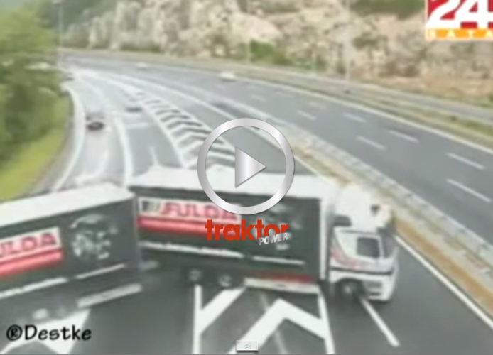 VILKEN galen lastbilsförare!!!