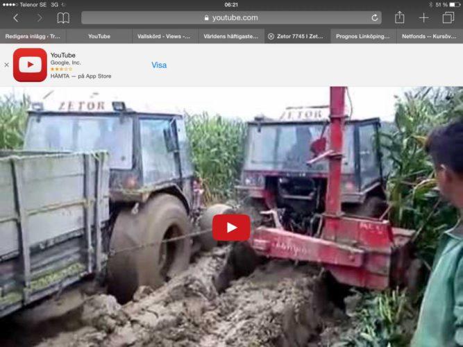 Zetor kämpar i leran!