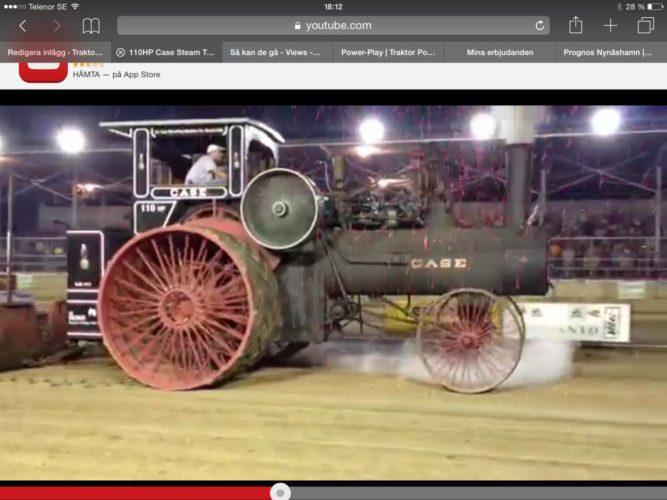 Ånglokomobil kör traktorpulling!