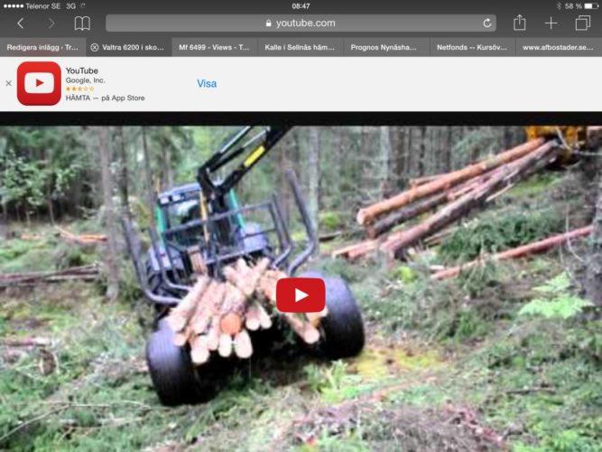 VALTRAN jobbar i skogen!