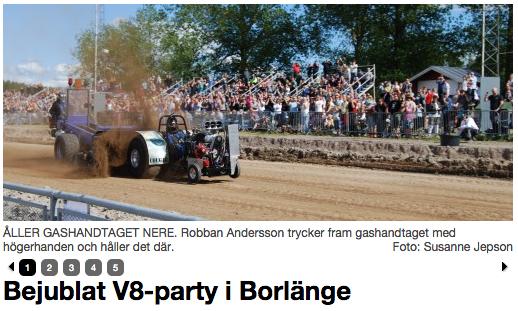 V8-party i Borlänge