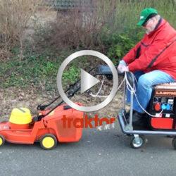 Elgräsklipparen funkar som minibil!