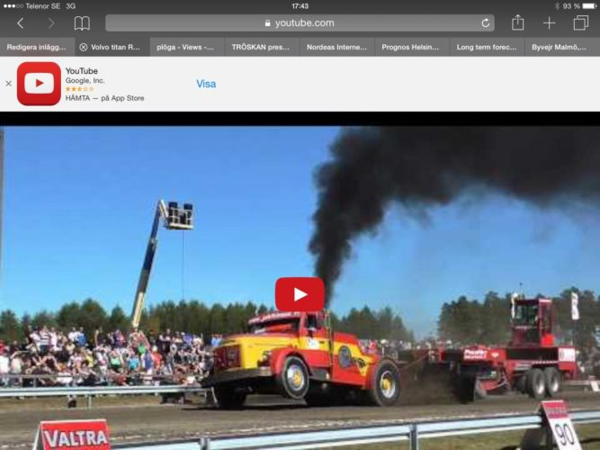 truckpulling med Volvo Titan!