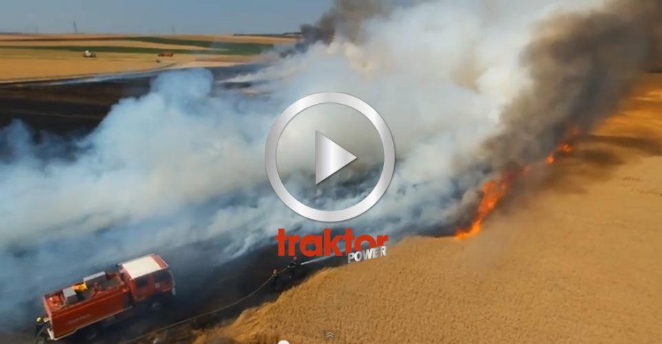 Elden härjar i spannmålsfältet!