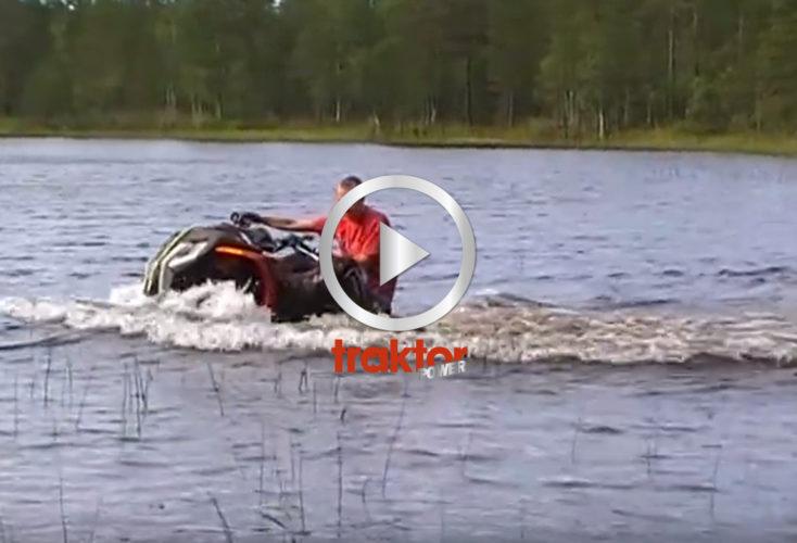 Hur långt ut i sjön tror du en fyrhjuling kan köra? Här får du svaret!!!