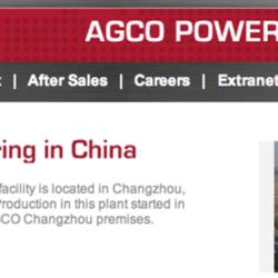 EN TILL KINA-FABRIK. Agco har öppnat sin femte fabrik i Kina sedan man först började sin verksamhet i landet 2001.