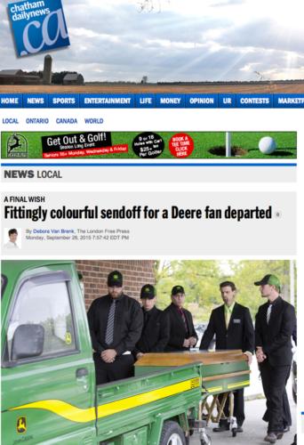 John Deere-färger – in i det sista...