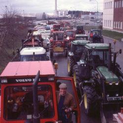 Traktortåg i Nyköping.