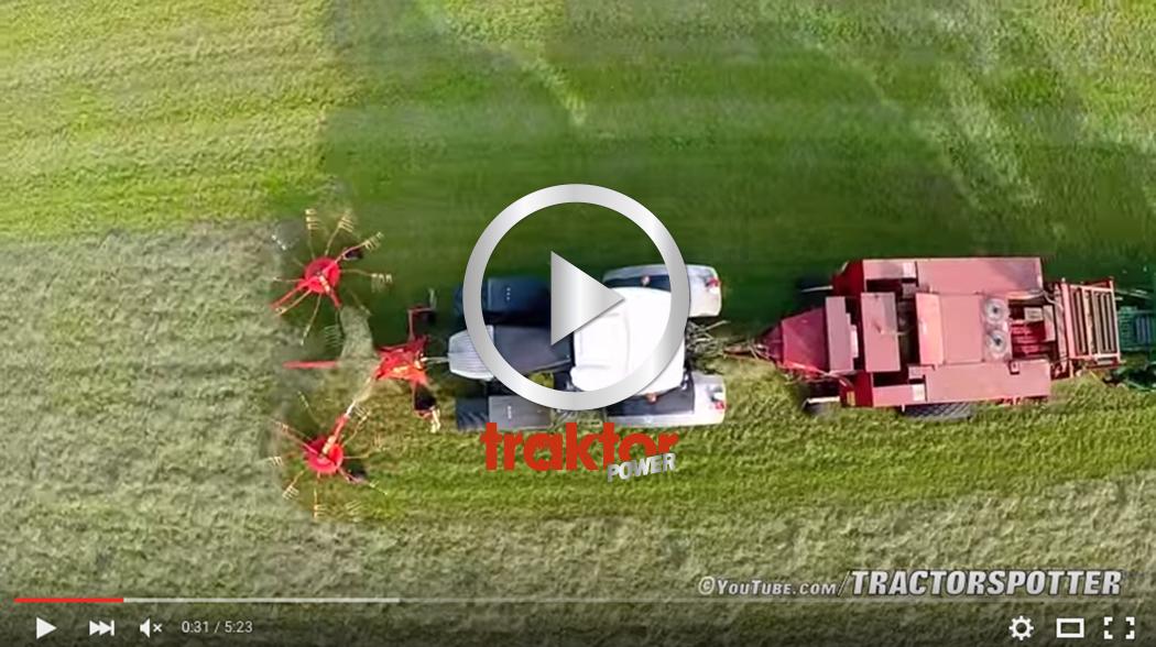 MAX vallskörd! Traktorn strängar framtill och pressar baktill! Snygg kombo!