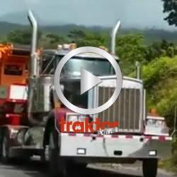 Wheelie med lastbil!