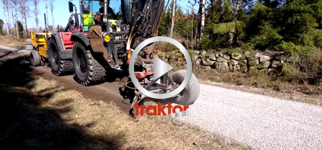 Renovering av grusvägen!