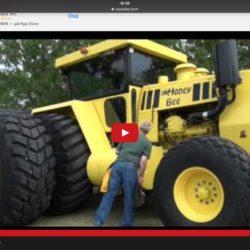 Så byggde han sin egen traktor!