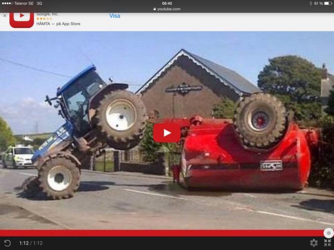 Det här kan hända traktorföraren!