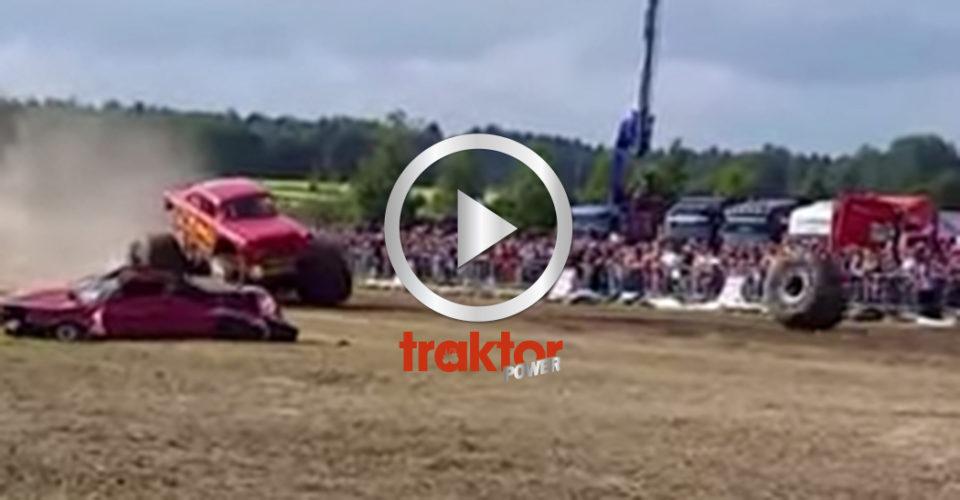 Monstertruck-olycka i Finland.