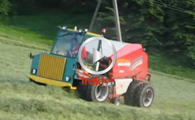 Här rullar en press med egen motor!
