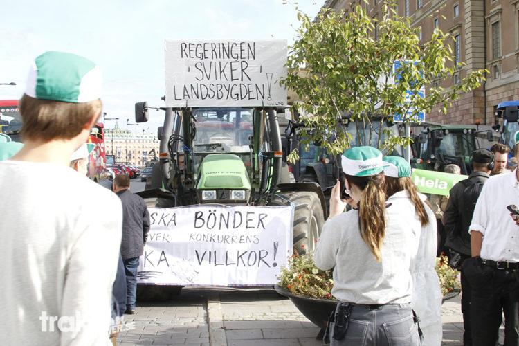 Detta är traktorerna som protesterar mot jordbrukspolitiken.