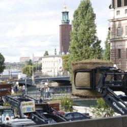 Traktortåg i Stockholm.