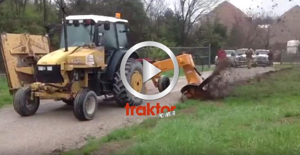 Så funkar dikesfräsen som sitter på traktorn!